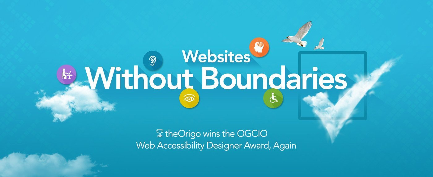 theOrigo wins the OGCIO Web Accessibility Designer Award, Again
