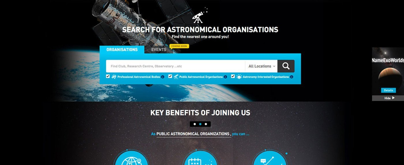 IAU Directory of World Astronomy wins 2015 Best Science Website Award