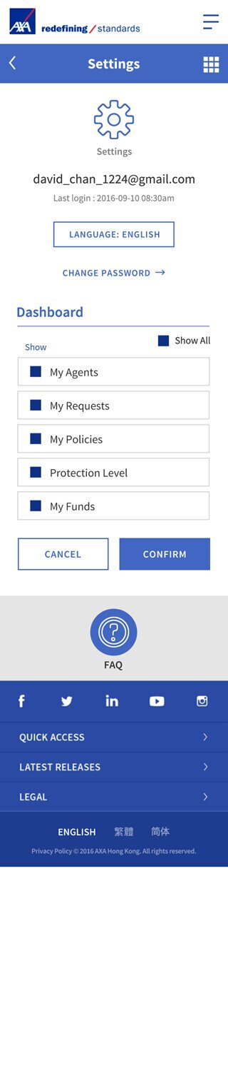 AXA website screenshot for mobile version 7 of 7