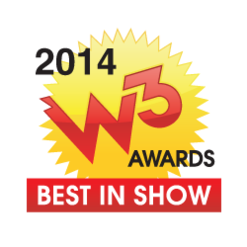 Best in Show W3 Awards 2014